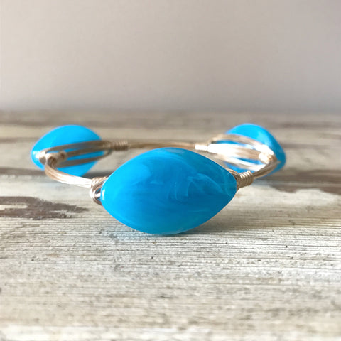 Blue Oval Bangle