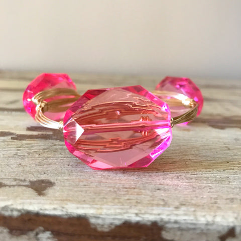 Pink Crystal Bangle
