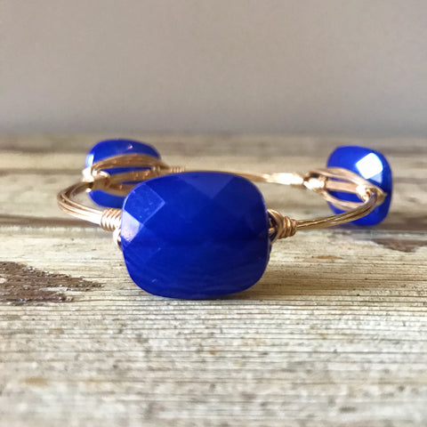 Royal Blue Acrylic Wire Bangle