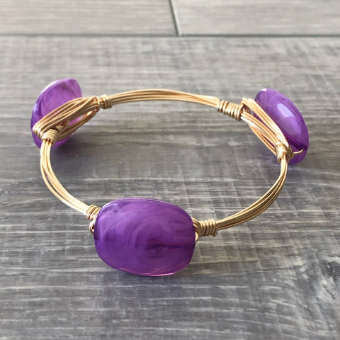 Purple Acrylic Bangle