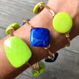 Blue Acrylic Bead Bangle