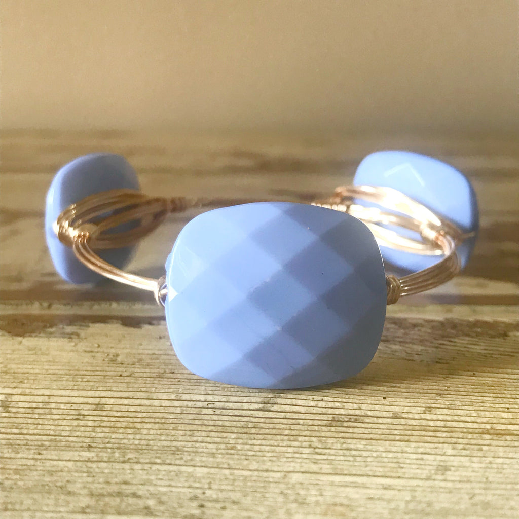 Periwinkle Wire Bangle