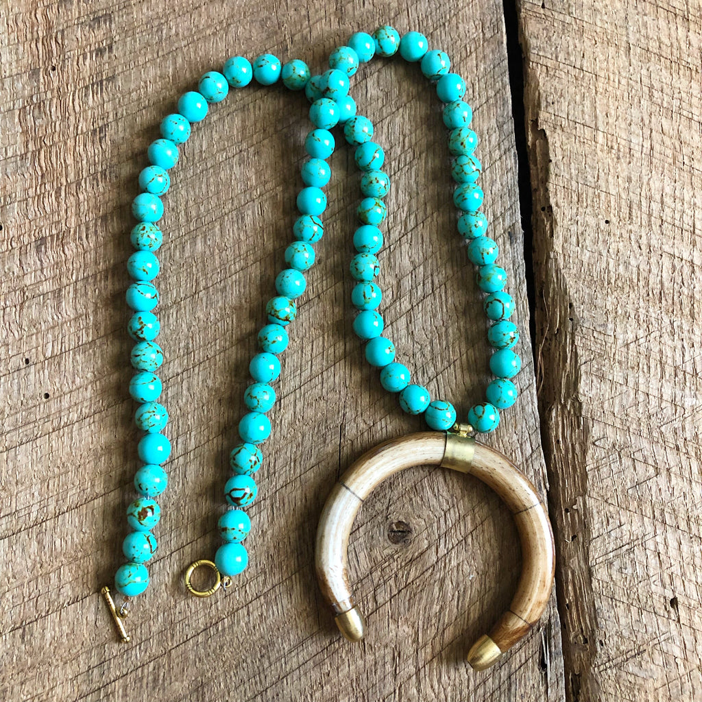 Turquoise Crescent Necklace
