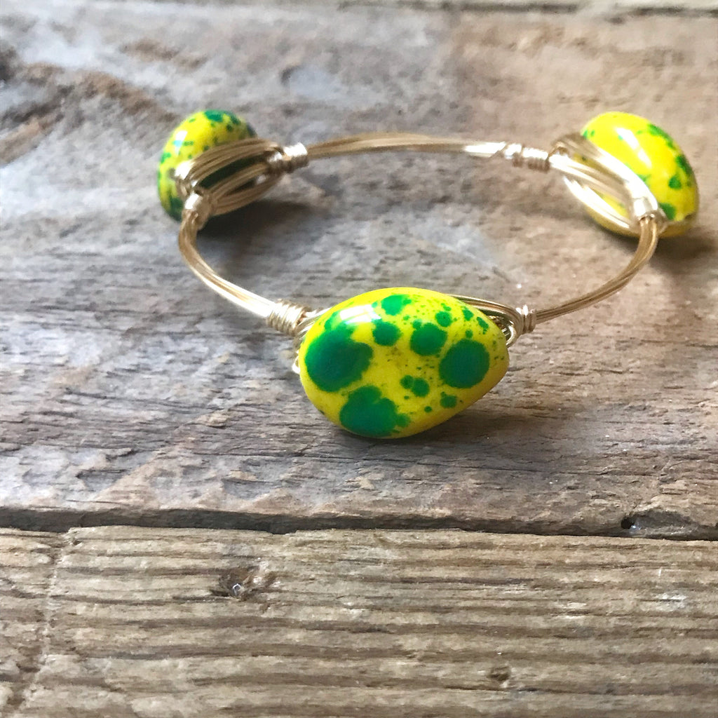 Yellow Speckled Bangle
