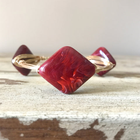 Crimson Diamond Bangle