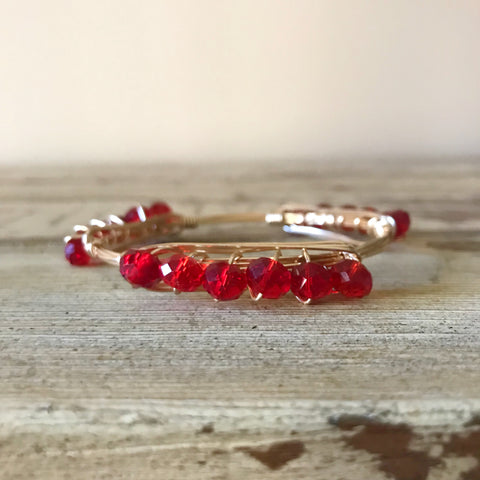 Red Crystal Bangle