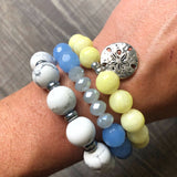 Blue and Yellow Bracelet Stack