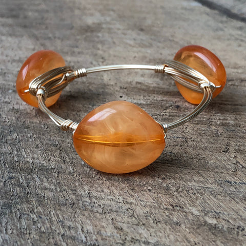 Orange Acrylic Bangle