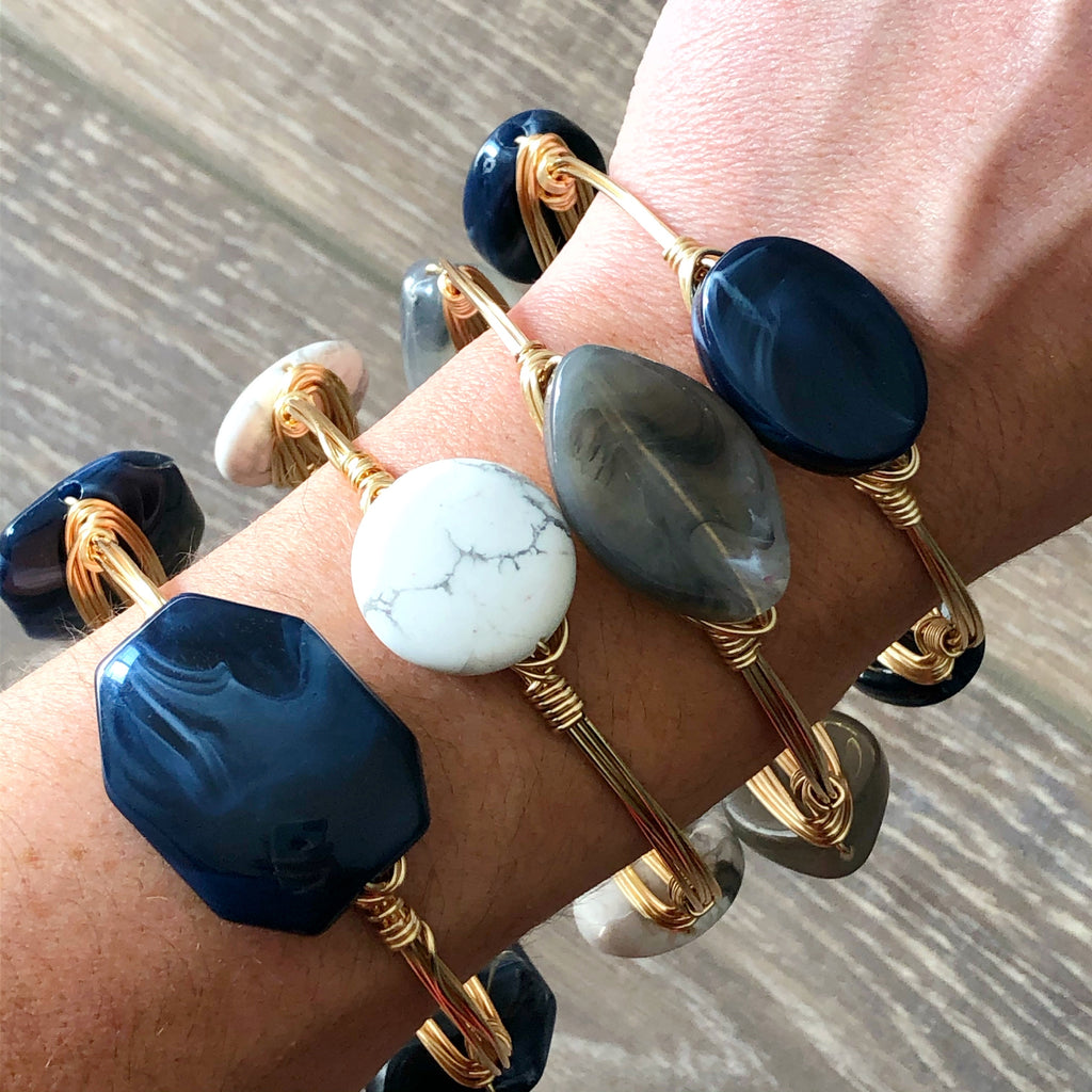 Navy Acrylic Bangle