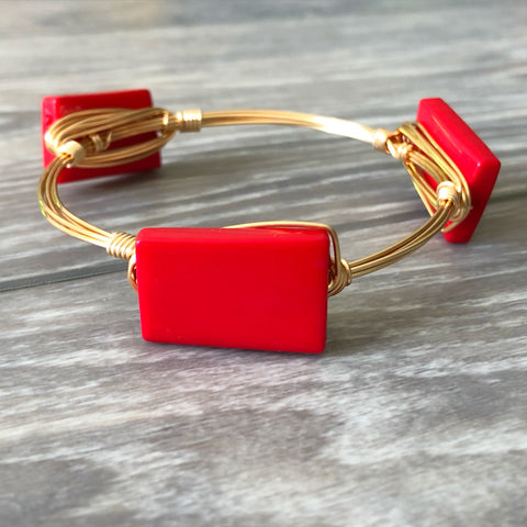 Red Acrylic Bangle