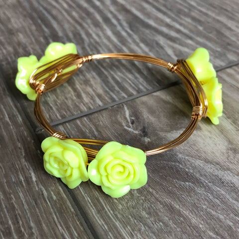 Yellow Rose Bangle