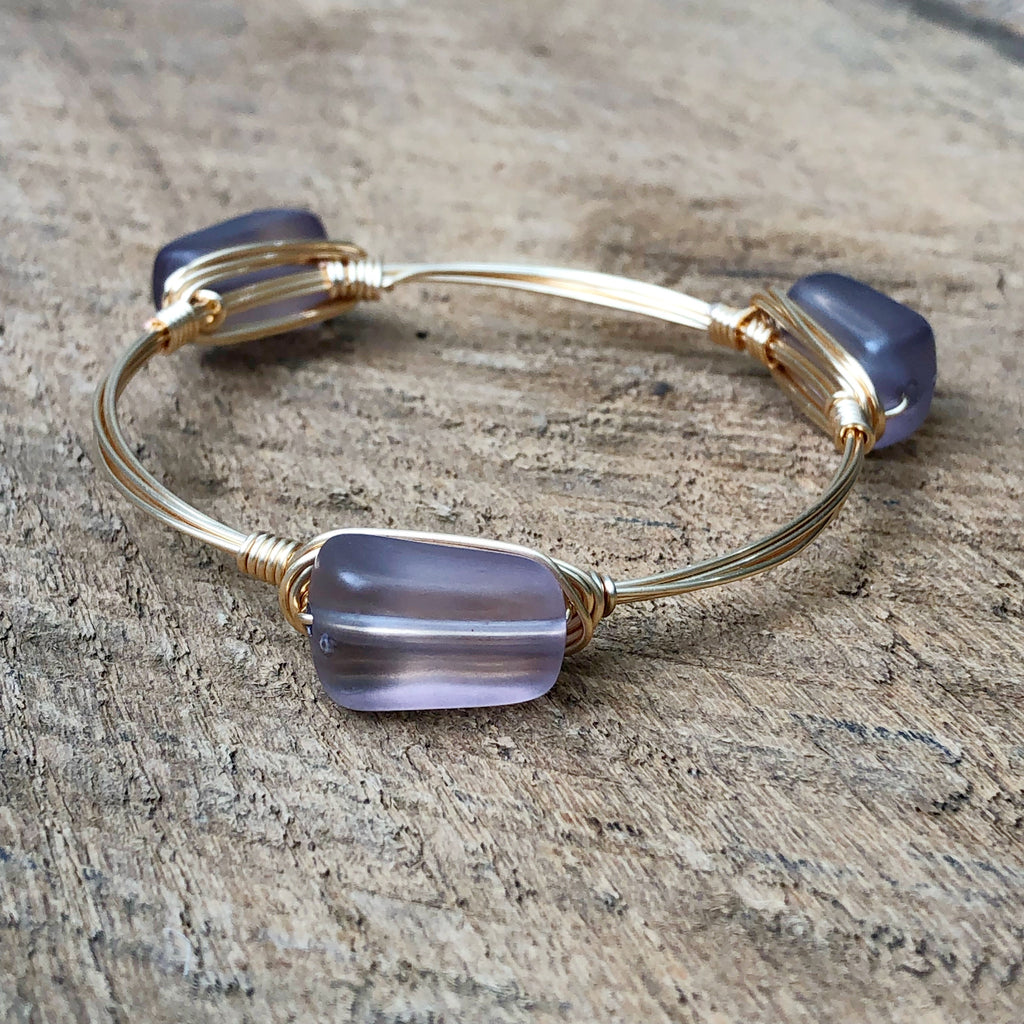 Matte Gray Acrylic Bangle