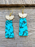 Turquoise Acrylic Earrings