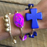 Blue Cross Bangle