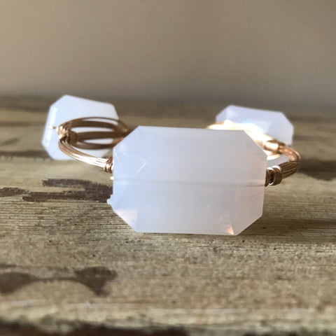 White Acrylic Bangle
