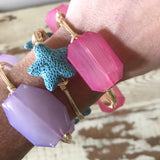 Blue Star Lava Rock Bangle