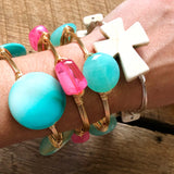 Turquoise Ombré Bead Bangle