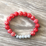 Red and Gray Bracelet