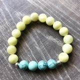 Yellow and Mint Beaded Bracelet