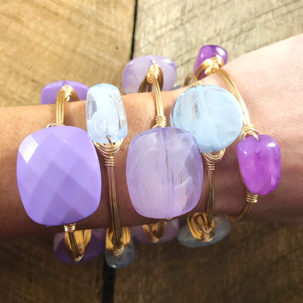 Lavender Acrylic Bangle