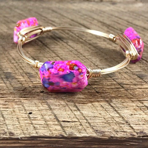 Pink Speckled Bangle