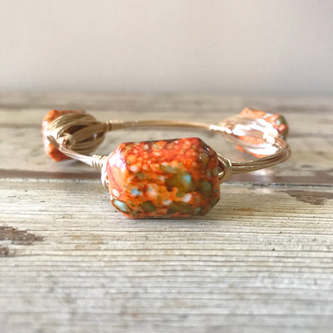 Orange Speckled Bangle