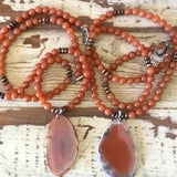 Orange Agate Slice Necklace