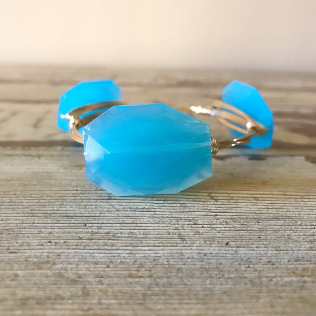 Sky Blue Acrylic Bangle