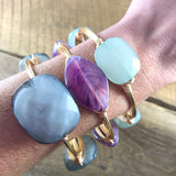 Purple Oval Bangle