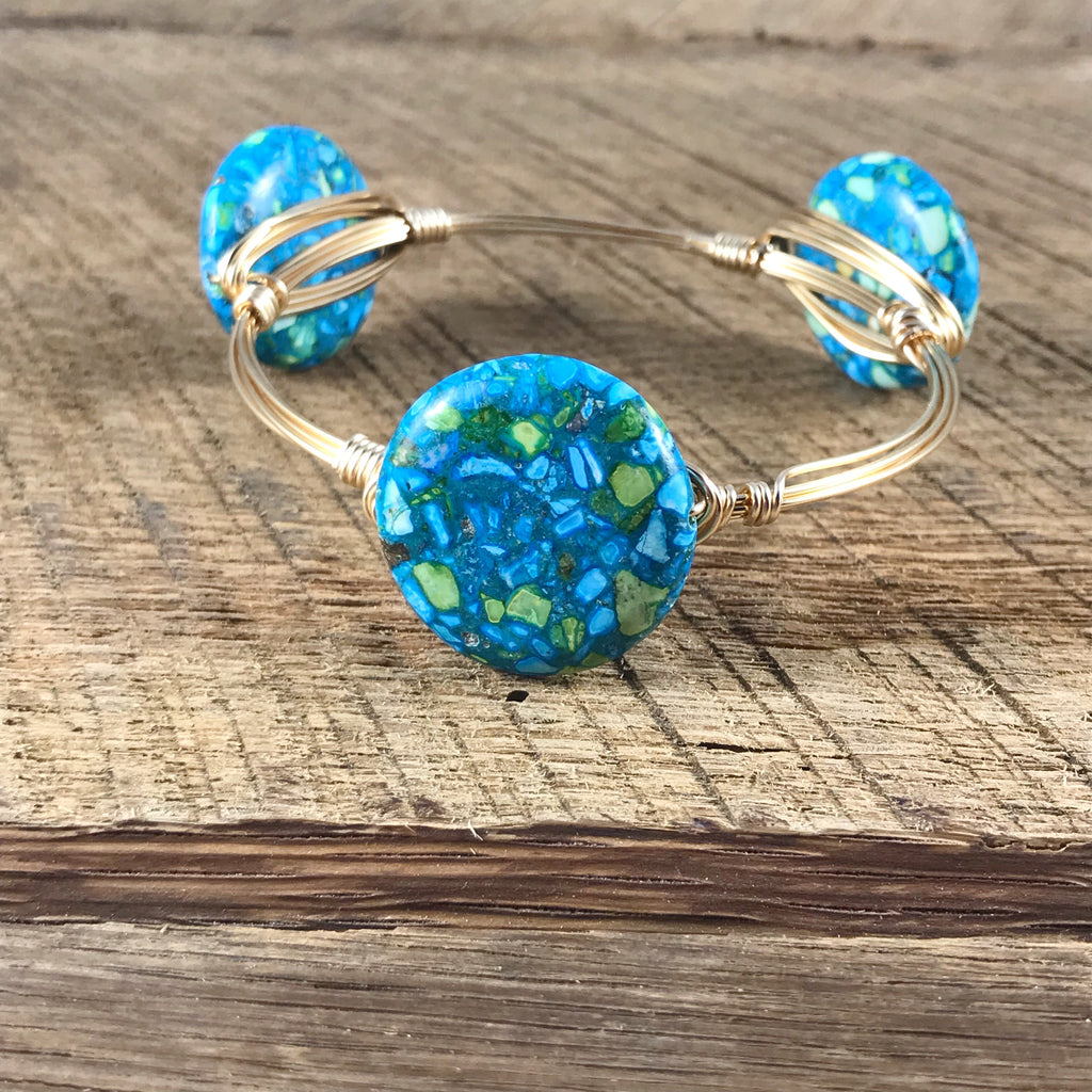 Blue Mosaic Bangle