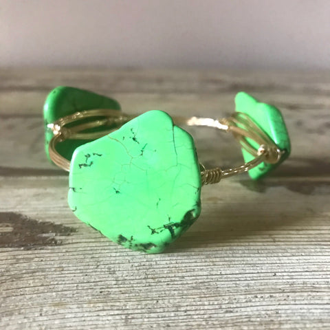 Green Jasper Slab Bangle