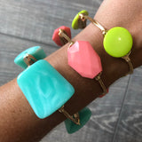 Mint Bead Bangle