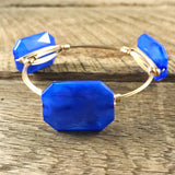 Blue Acrylic Bangle