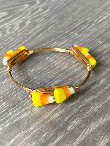 Candy Corn Beaded Bangle
