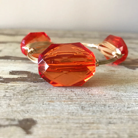 Orange Crystal Bangle