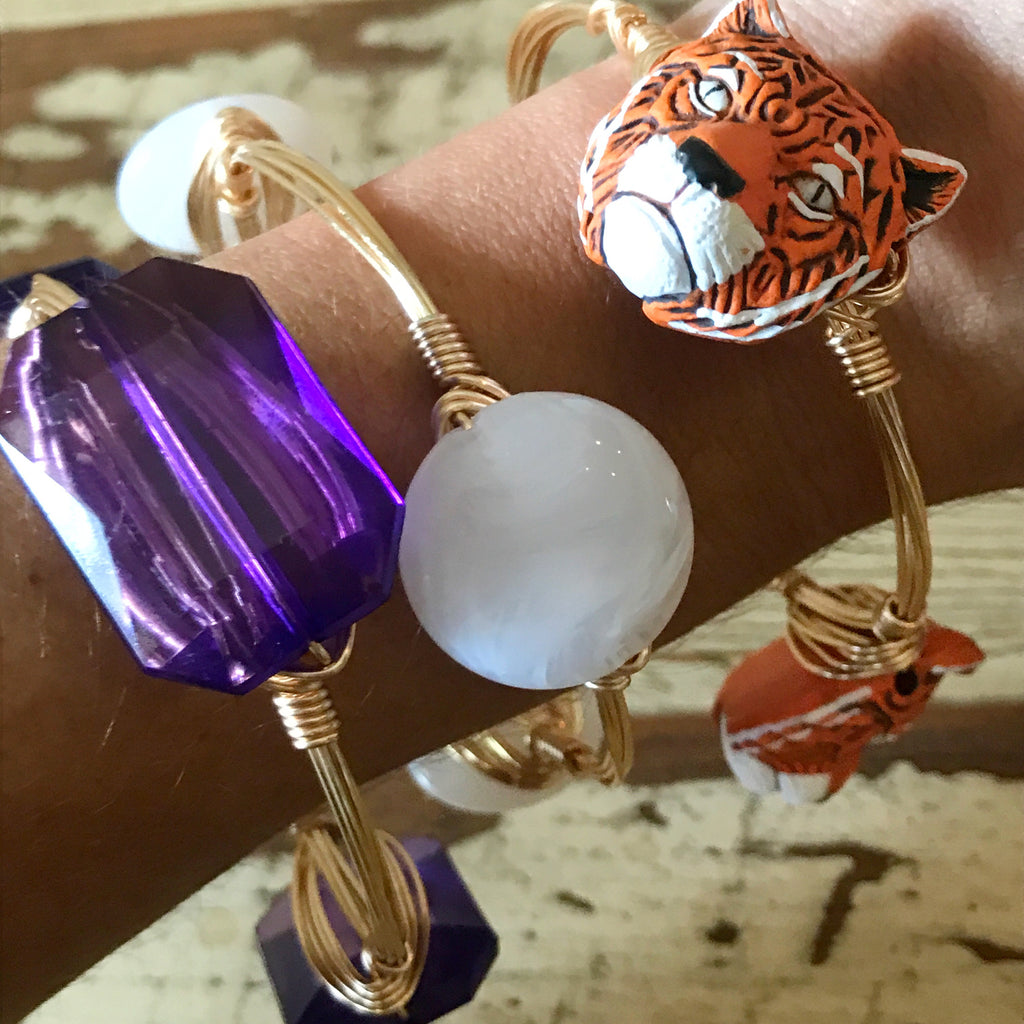 Tiger Bead Wire Bangle