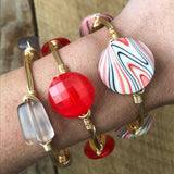 Red, White and Black Bangle