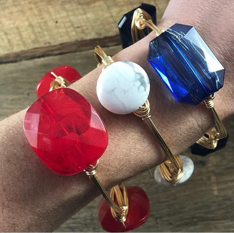 Red, White, and Blue Bangle Stack