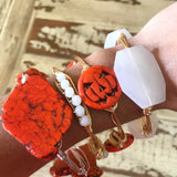 Pumpkin Bead Bangle