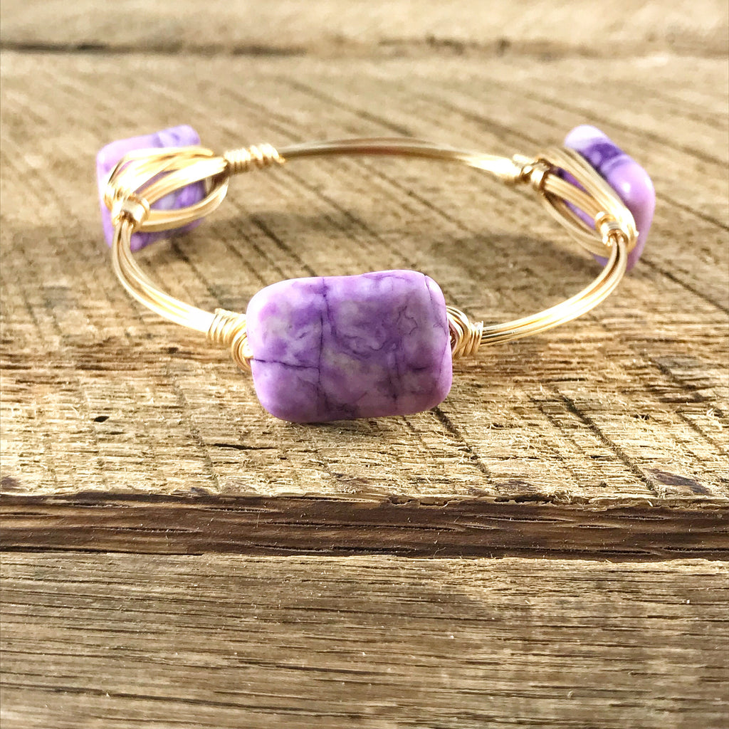 Purple Amethyst Bangle