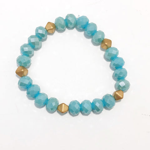 Faceted Turquoise Bracelet