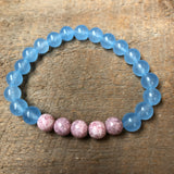 Blue and Amethyst Beaded Bracelet