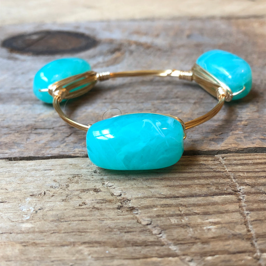 Mint Acrylic Bangle