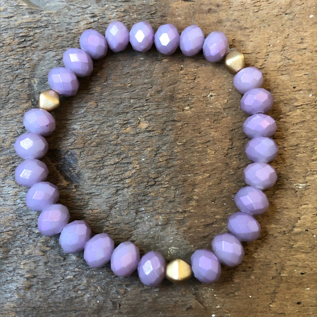 Lavender Beaded Bracelet