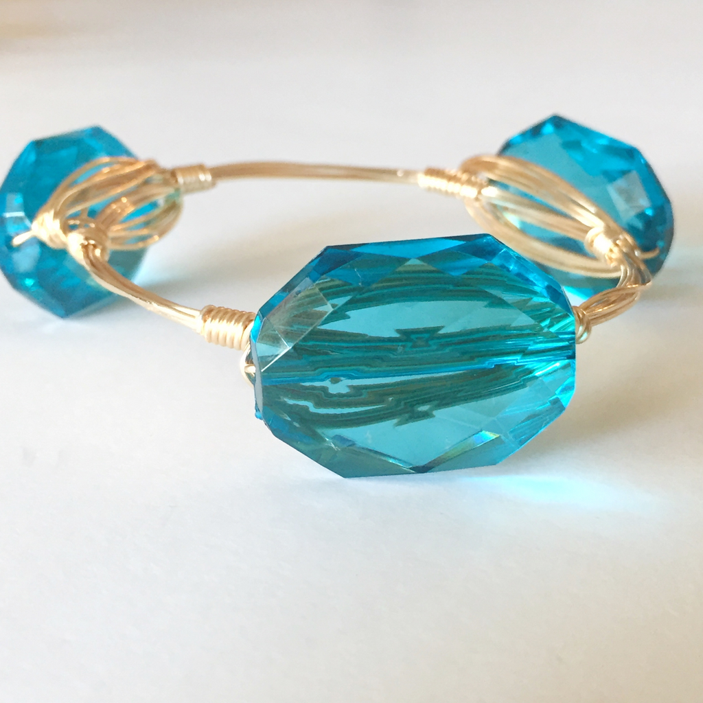 Light Blue Crystal Bangle
