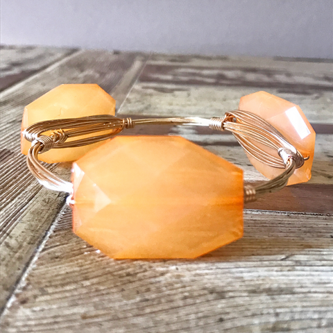 Orange Sherbert Acrylic Bangle