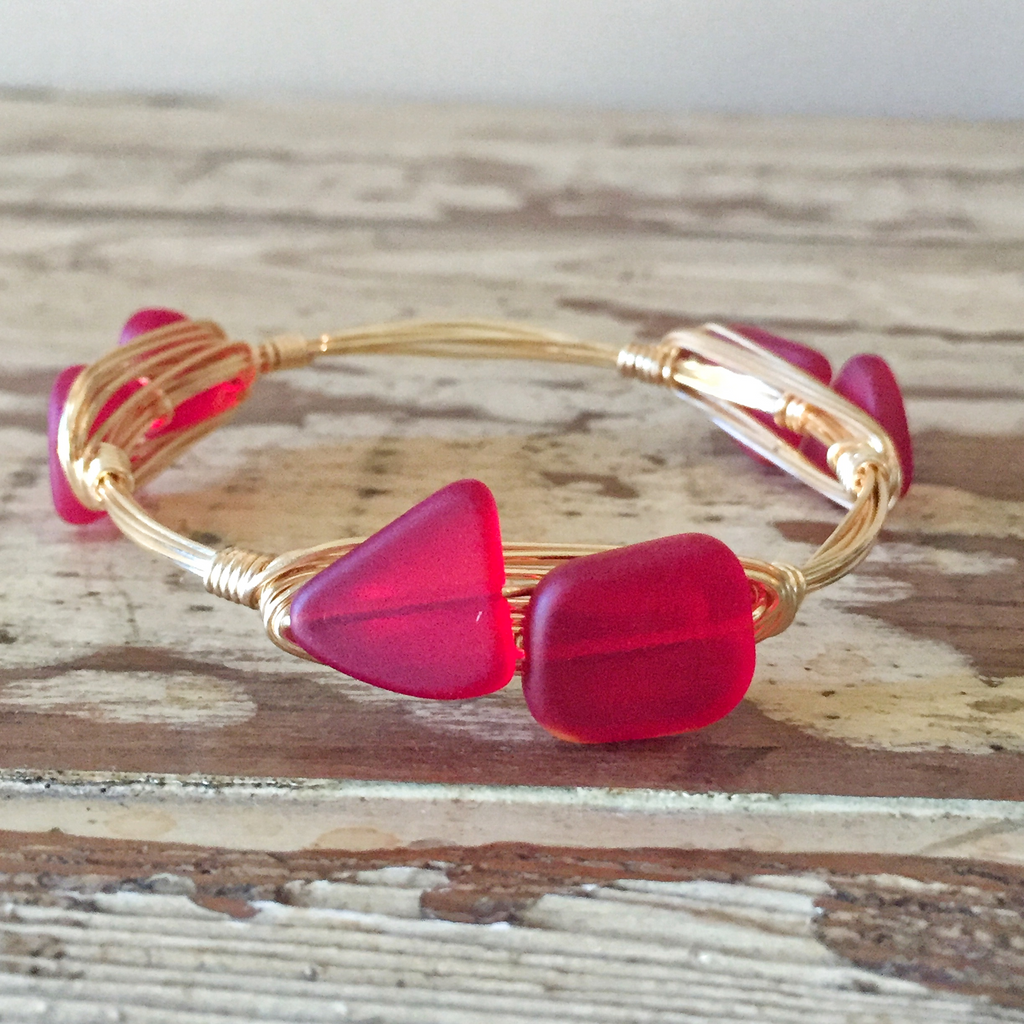 Red Sea Glass Bangle
