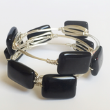 Black Onyx Wire Wrap Bracelet