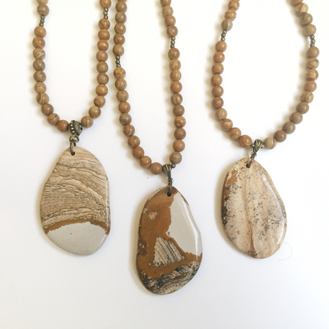 Tan Pendant Necklace