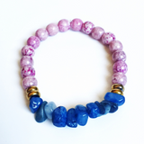 Blue and Amethyst Luster Bracelet